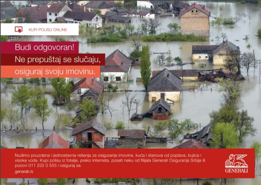 GENERALI kampanja za osiguranje domaćinstava u slučaju poplava